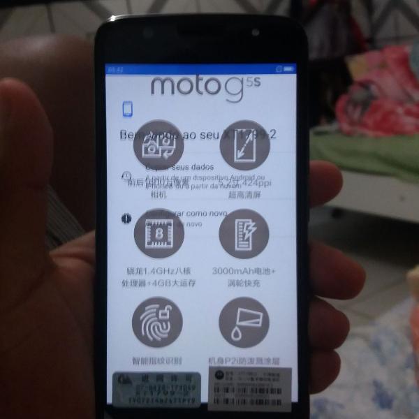 Smartphone motorola g5s plus