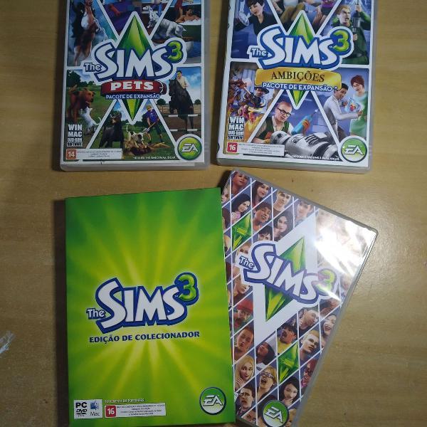 the sims 3 edição de colecionador combo pets e ambições