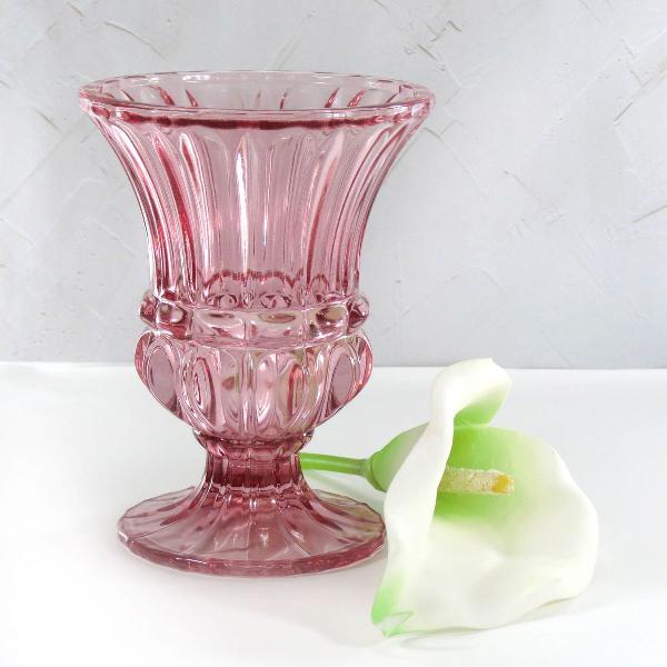 Vaso estilo romano cor marsala vidro linha roma luxo 15cm