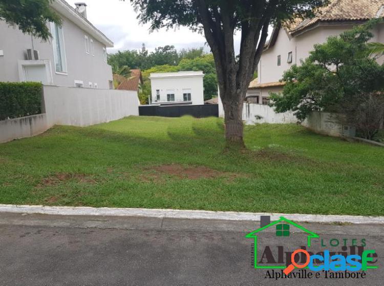 Terreno plano com 464m² à venda no residencial alpha 11