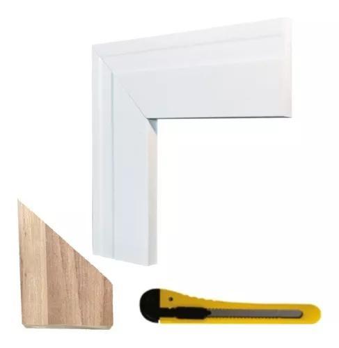 Moldura eva flexível p/ porta e janela 5x1cm - 20 metros