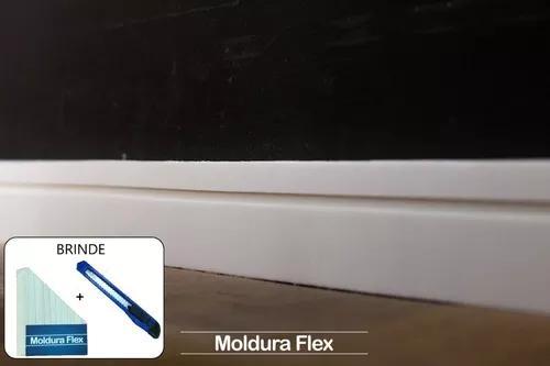 Rodapé eva flexível autoadesivo 05cmx1cm lucca 06 metros