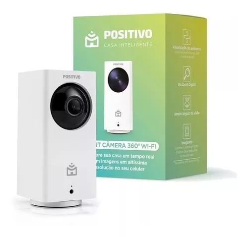 Smart câmera 360° wi-fi positivo full hd compativel c/