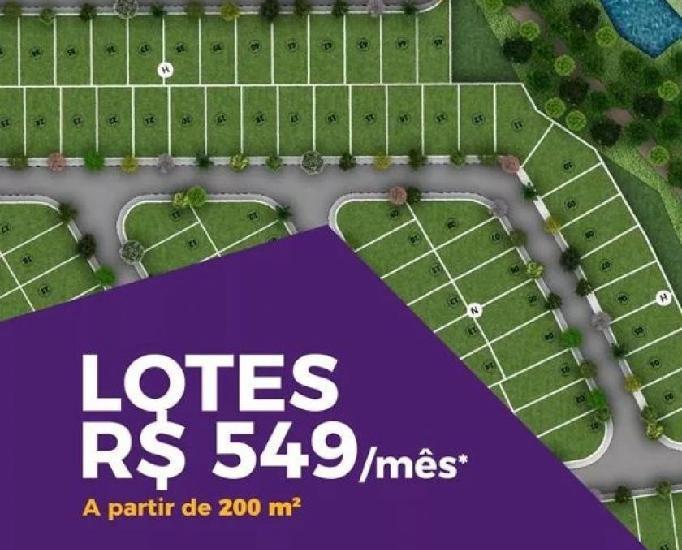 Ltimas unidades - lotes de 200m2 - r$ 549,00 mensais