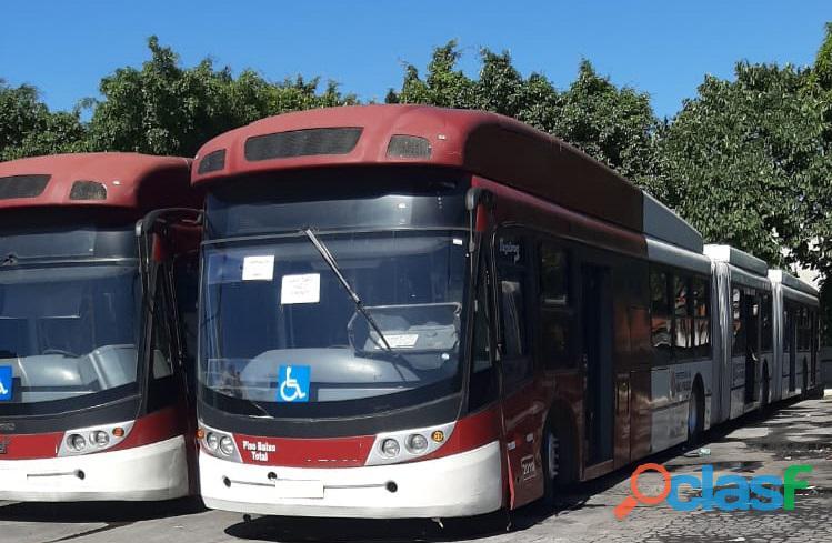 Ônibus urbano bi articulado volvo b12 caio top buss ano 2010