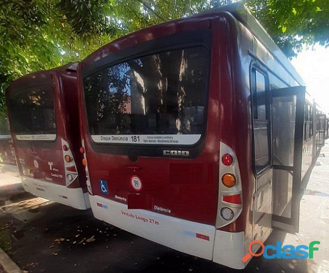 Ônibus Urbano Bi Articulado Volvo B12 Caio Top Buss Ano 2010 2