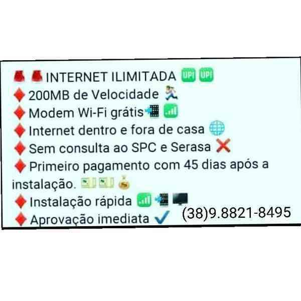200 megas de internet fibra +beneficios