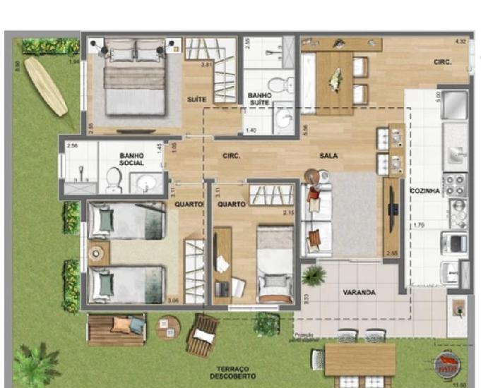 Apartamento 2 e 3 quartos - campo dos afonsos