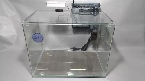 Aquário vidro curvo clean 31lt 110v tampa/filtro/led br-az