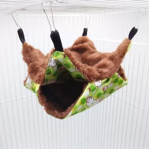 Cama casinha ninho suspensa macia chinchila hamster furão