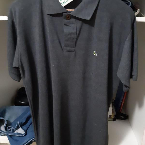 Camisa pólo lacoste cinza grafite tamanho g