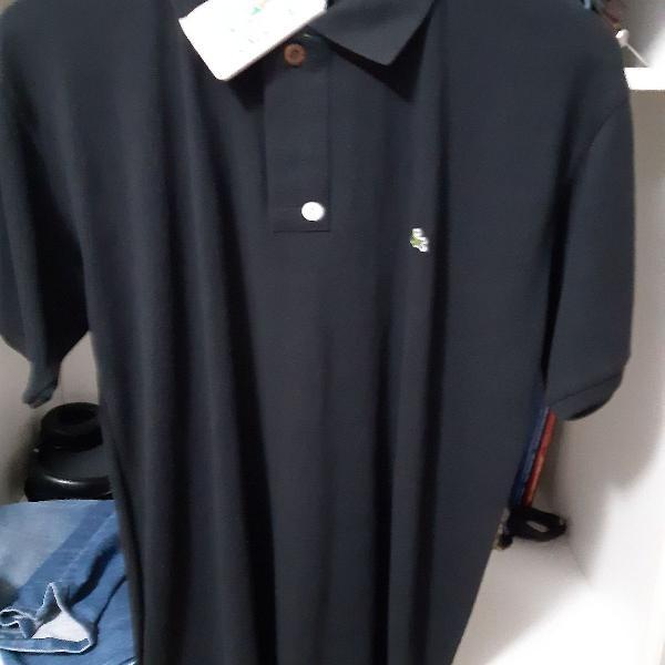Camisa pólo lacoste preta tamanho g