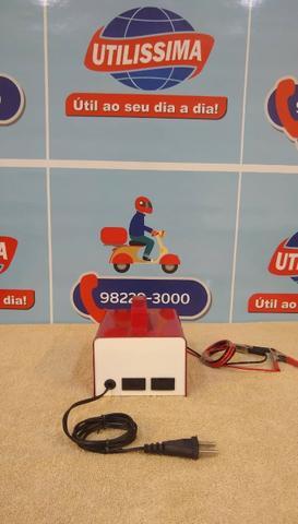 Carregador de bateria para carro e moto 12v 10amp.