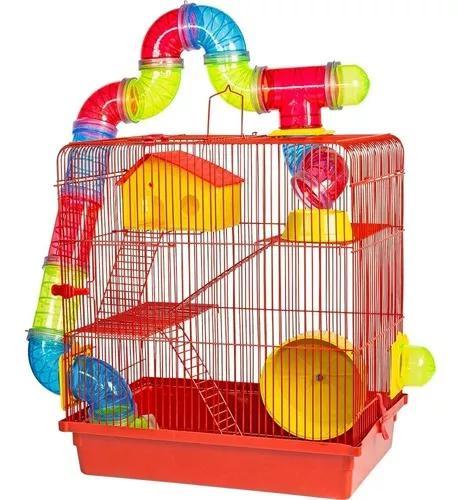 Casa labirinto gaiola 3 andares p/ hamster e roedores
