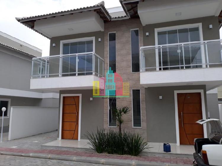 Casa nova duplex 2 quartos um suíte em condomínio a uma