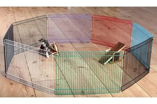 Cercado metálico colorido para hamster roedores com 8 lados