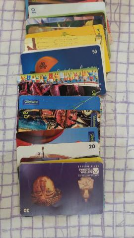 Coleção cartões telefônicos