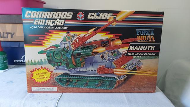 Comandos em ação - g.i. joe - tanque de ataque mamuth +