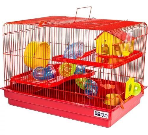 Gaiola hamster extra grande 2 andares completa com bebedouro