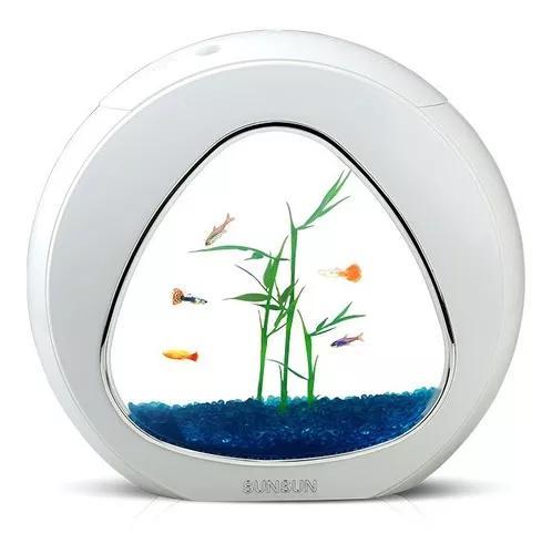 Mini aquário sunsun ya-02 6 litros bivolt + envio rápido