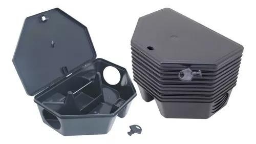 Porta isca p/ratos kit c/ 5 armadilhas + 5 blocos parafinado