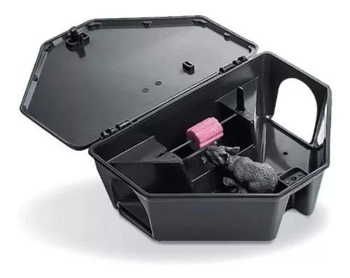 Porta iscas pega ratos armadilhas caixa com 10 unidades