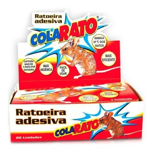 Ratoeira armadilha adesiva cola pega ratos cx c/20 unidades