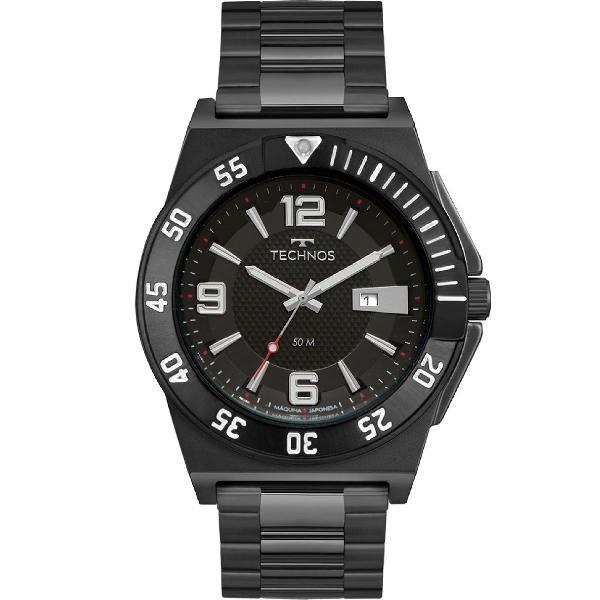 Relógio technos masculino racer preto 2117lbl/4p