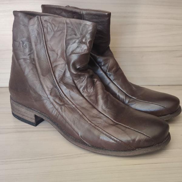 Sapato casual masculino 100% couro forum