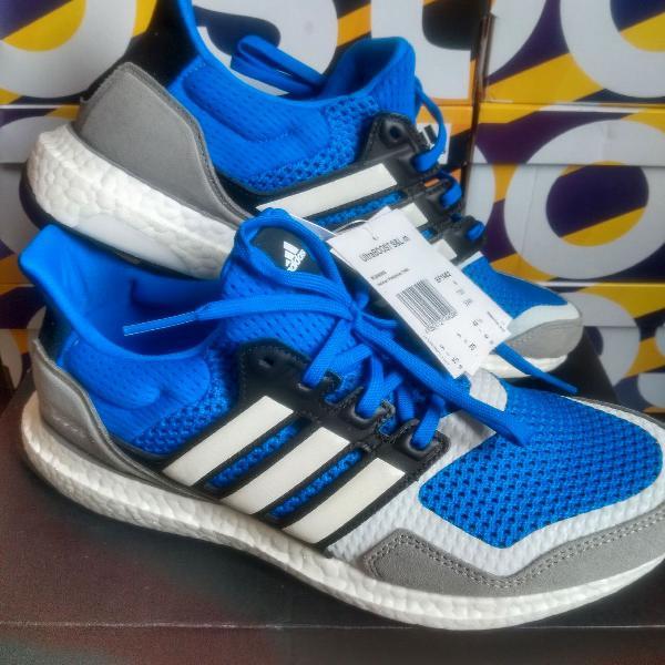Tênis adidas ultraboost s&l azul/cinza/branco original