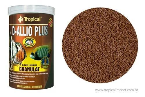 Tropical d-allio plus granulat 600g - ração alho p/ peixes