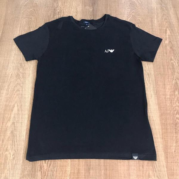 Armani camiseta masculina lisa com logo