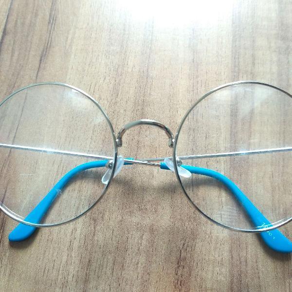 Armação óculos redondo retrô vintage
