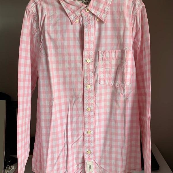 Camisa botão manga longa abercrombie & fitch