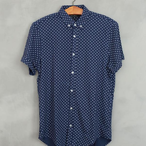 Camisa estampada masculina zara