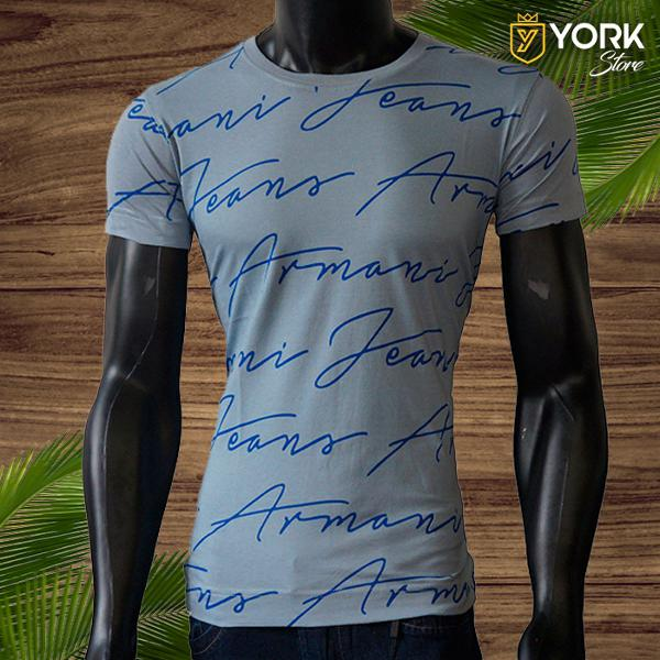 Camisa masculina armani assinatura malha extra fio 30.1