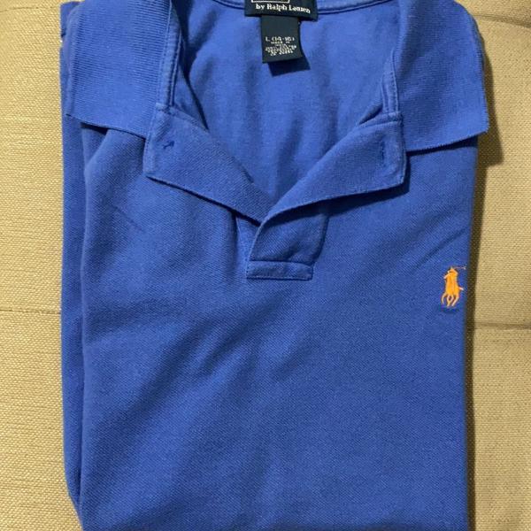 Camisa polo azul infantil ralph lauren tamanho 14-16 anos