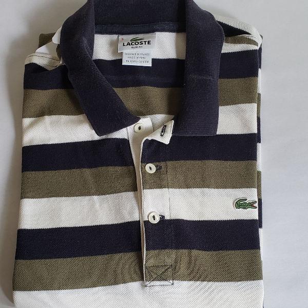 Camisa polo lacoste listrada original