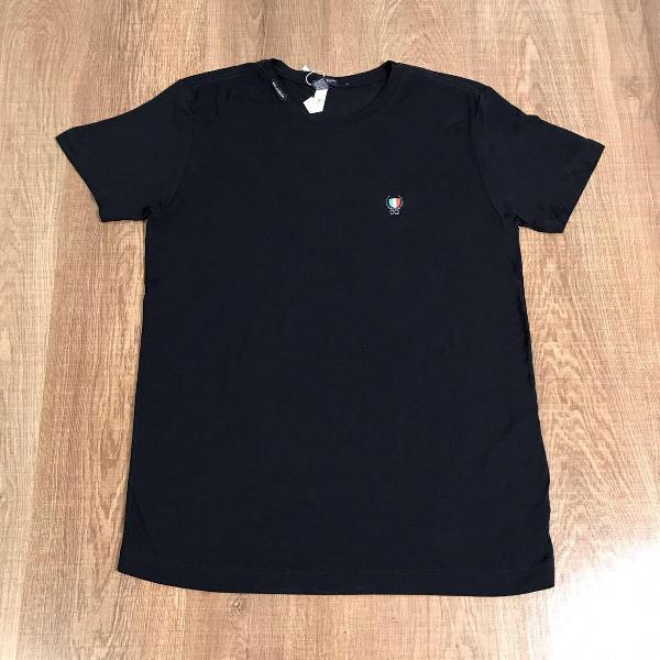 Dolce & gabbana camiseta masculina lisa com logo