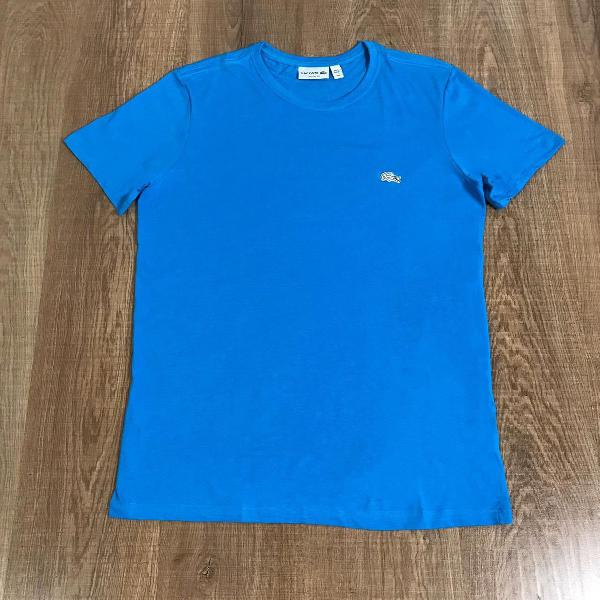 Lacoste camiseta masculina lisa com logo