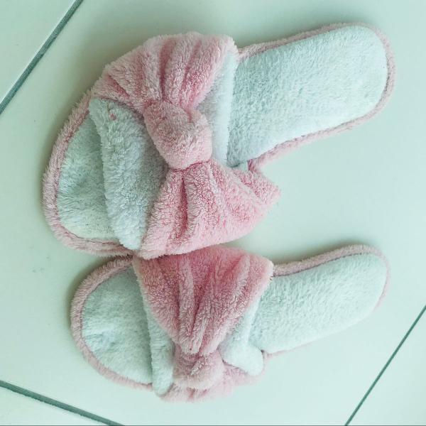 Pantufa rosa bebê