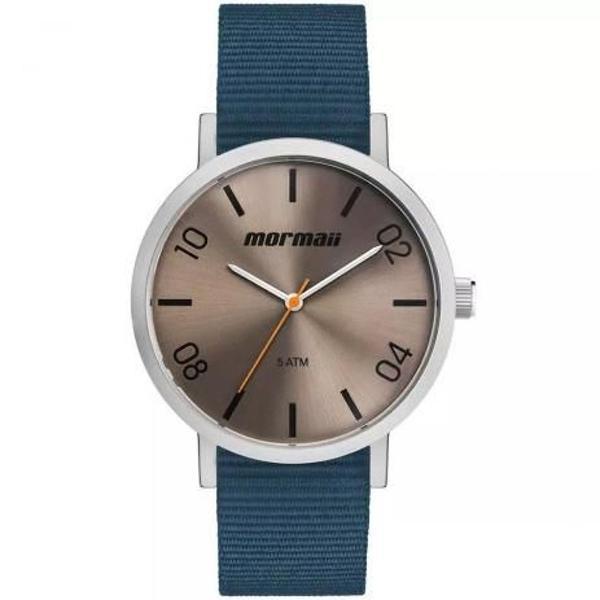 Relógio mormaii steel basic azul prata mo2035kb/0a unissex