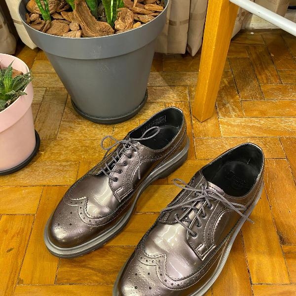 sapato doctor martens oxford vinyl gray