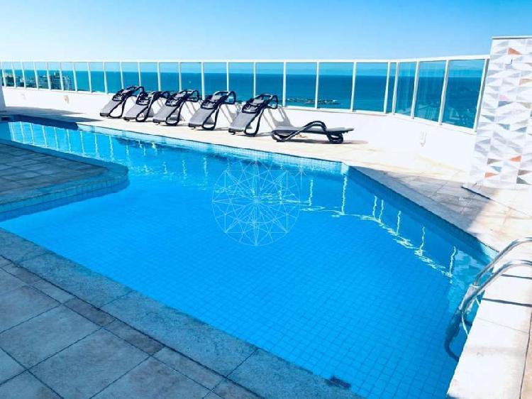 Apartamento à venda, 4 quartos, 3 vagas, praia da costa -