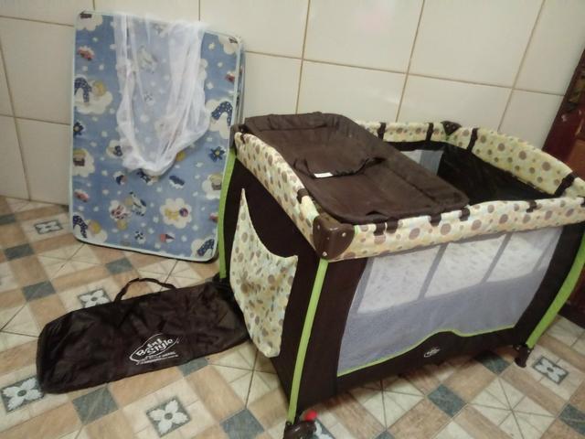 Berco cercado portátil zerinhoo com colchão