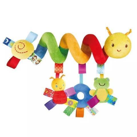 Brinquedo mobile chocalho espiral pra berço e bebe conforto