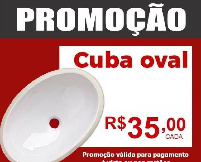 CUBA OVAL ONIX 39X30 CM BRANCA ONIX