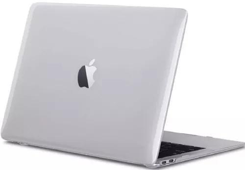 Case capa p/ macbook air 13.3' a1932 branca fosca mac apple