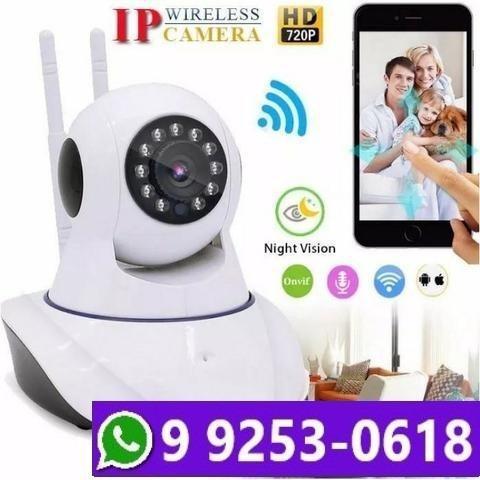 Câmera wireless ip hd720p noturna sensor infravermelho wifi