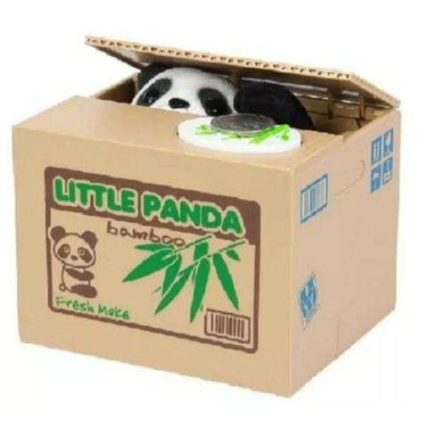 Cofre cofrinho panda pega moedas ladrão poupança produto